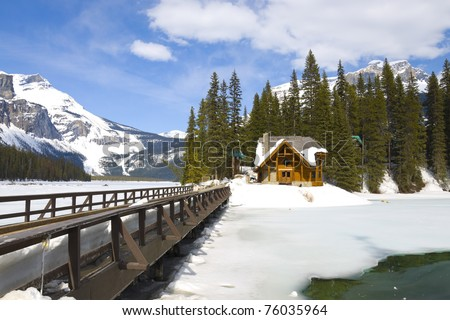 Emerald lake Chalet, Yoho National Park, British Columbia, Canada
