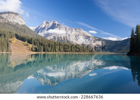 Emerald Lake of Yoho National Park - stock photo