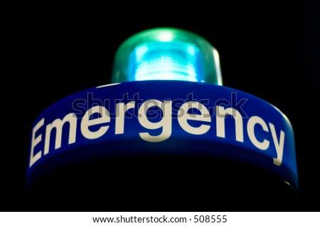 emergency blue light phone - stock photo