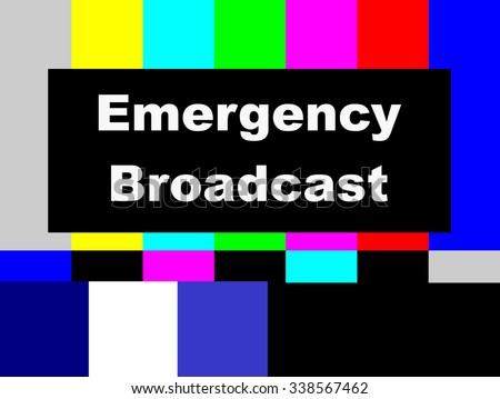 Emergency Broadcast SMPTE color bars television test pattern  - stock photo