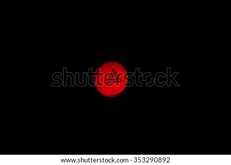 emergency button in car - stock photo