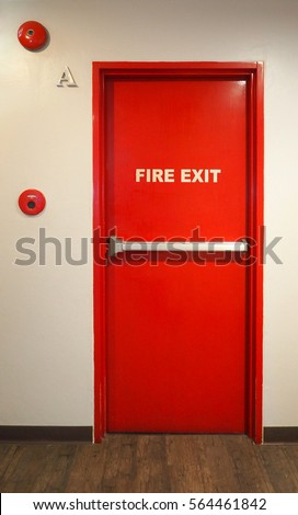 Emergency fire exit door and red color and white wall in building. & Exit Door Stock Images Royalty-Free Images \u0026 Vectors   Shutterstock Pezcame.Com