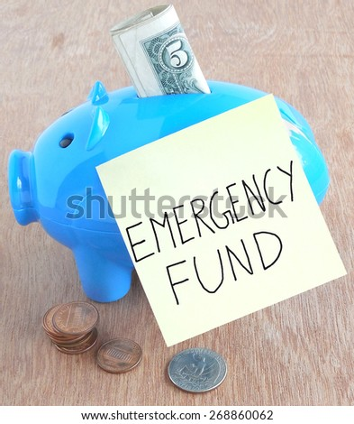 Emergency fund concept. - stock photo