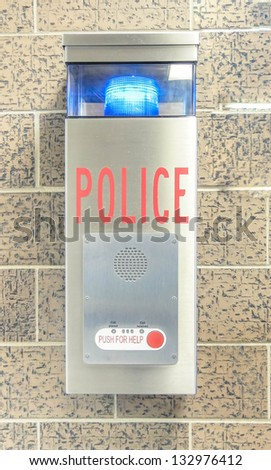Emergency help Police sign - stock photo