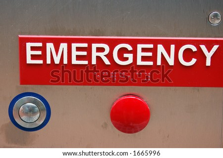 Emergency - macro - stock photo
