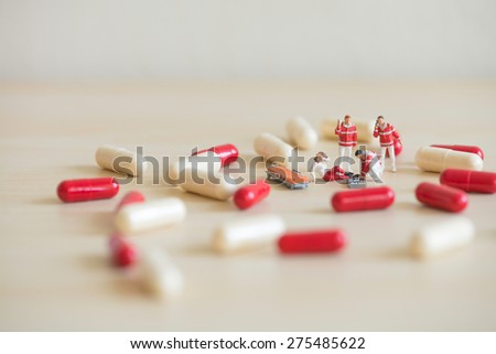 Emergency medical care. Macro photo - stock photo