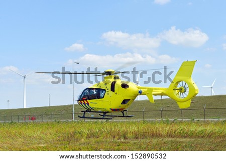 Emergency Medical Helicopter - stock photo