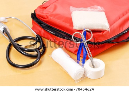 Emergency Medical Kit - stock photo