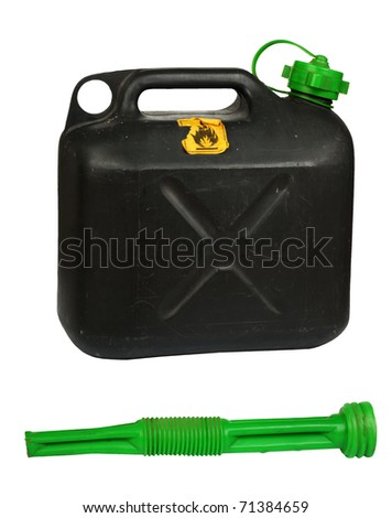 Emergency petroltank, isolated agains background - stock photo