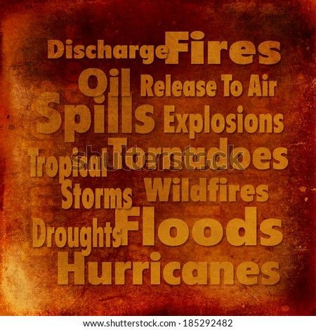 Emergency Response - Grunge Textured, Earth Tones - Words