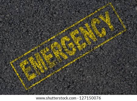 Emergency sign background