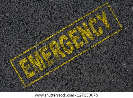Emergency sign background - stock photo