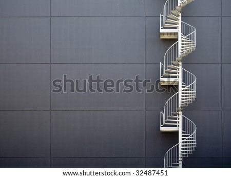 Emergency stairs - stock photo
