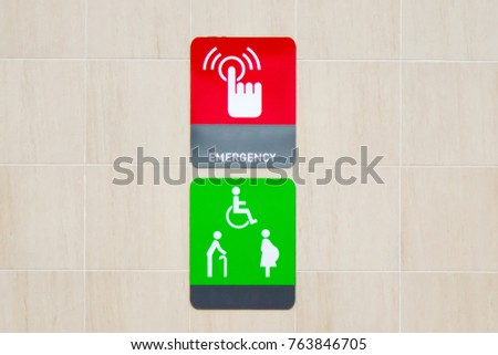 Emergency Switch Symbols Disabled Abdominal Old Stock Photo 100