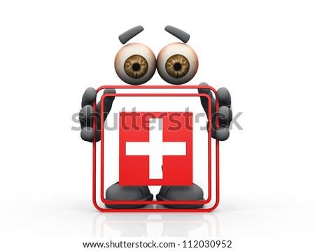 emergency  symbol on a white background - stock photo