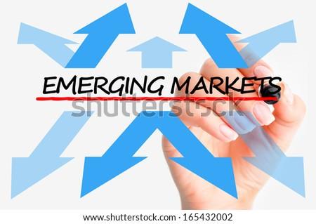 Emerging markets concept - stock photo