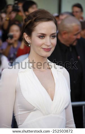 "Emily Blunt at the Los Angeles Premiere of ""Gnomeo & Juliet"" held at the El Capitan Theater in Hollywood, California, United States on January 23, 2010."