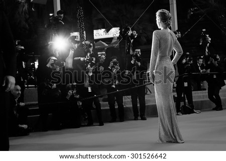 Emily Blunt  attends the 'Sicario' premiere during the 68th annual Cannes Film Festival on May 19, 2015 in Cannes, France. - stock photo