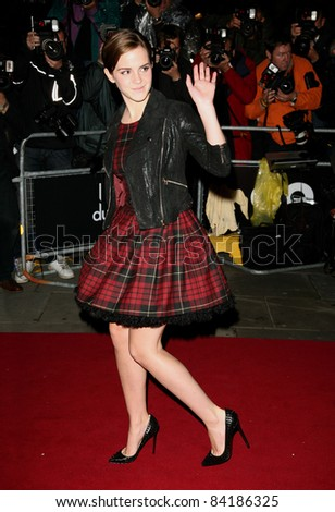 Emma Watson arriving for the 2011 GQ Awards, Royal Opera House, London. 06/09/2011  Picture by: Alexandra Glen / Featureflash - stock photo