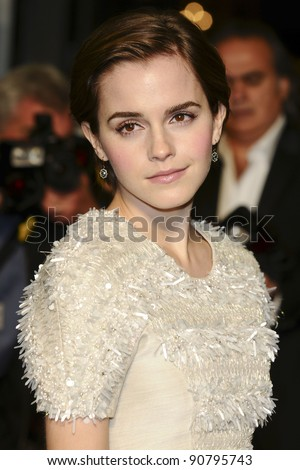 "Emma Watson arriving for the ""My Week with Marilyn"" premiere at the Cineworld Haymarket, London. 20/11/2011  Picture by: Steve Vas / Featureflash - stock photo"