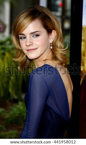 Emma Watson at the World premiere of 'The Tale of Despereaux' held at the ArcLight Theater in Hollywood, USA on December 7, 2008. - stock photo
