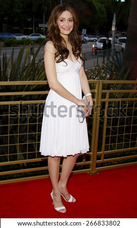 """Emmy Rossum attends the LG Electronics' (LG) Launch of the """"Scarlet"""" HDTV Series held at the Pacific Design Center in West Hollywood, California, United States on April 28, 2008.  - stock photo"""