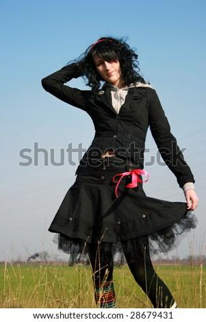 Emo fashion - stock photo