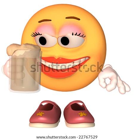 Emoticon Beer - stock photo