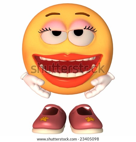 Emoticon Grin - stock photo
