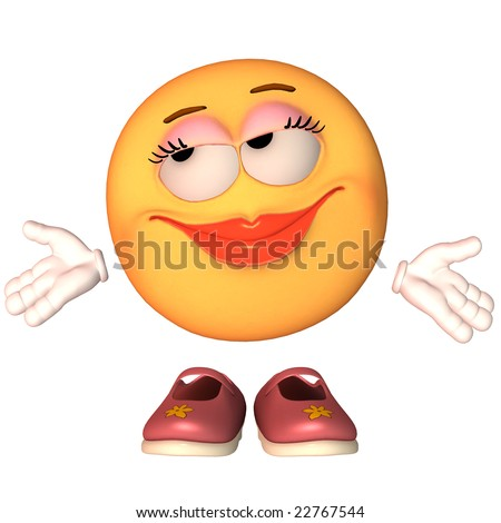 Emoticon Why Not - stock photo