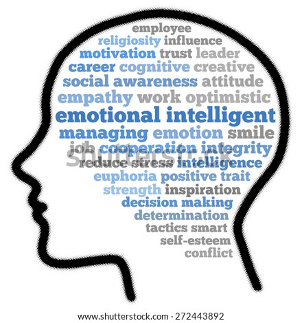 Emotional intelligent in words cloud - stock photo