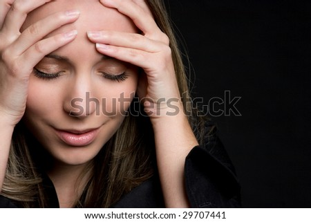 Emotional Woman - stock photo