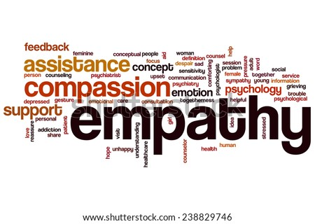 Empathy word cloud concept with compassion emotion related tags - stock photo
