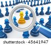 Employee & Job searching (with pawn, isolated on white with DOF) - stock photo