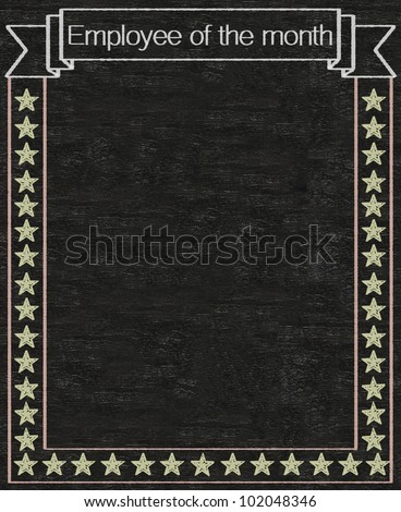 employee of the month written on blackboard background high resolution, easy to use - stock photo