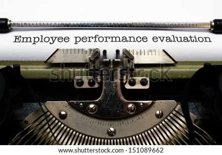 Employee performance evaluation - stock photo