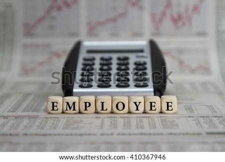 Employee salaries - stock photo