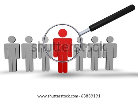 Employee Search - stock photo