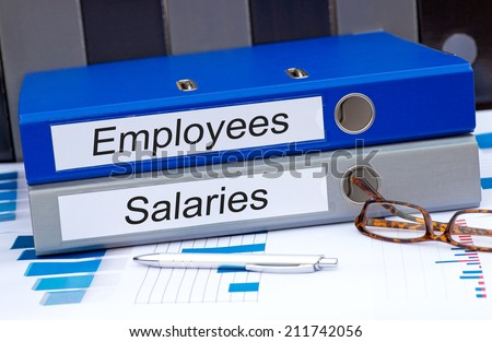 Employees and Salaries - stock photo