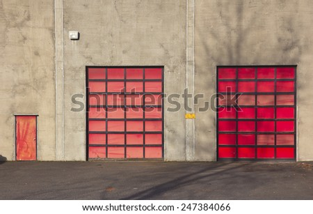 Employees entrance to a workplace in a small company Portland Oregon. - stock photo