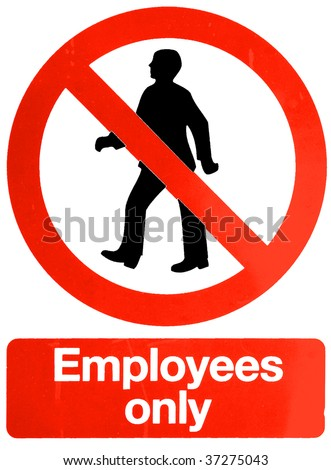 employees only vector - stock photo