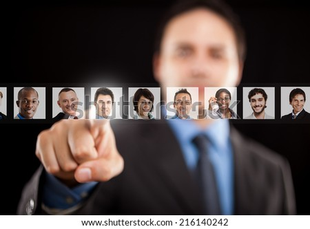 Employer choosing the right people - stock photo