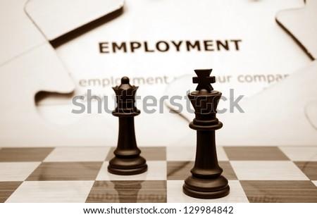 Employment concept - stock photo