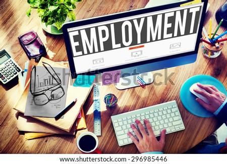 Employment Employed Career Job Hiring Concept - stock photo