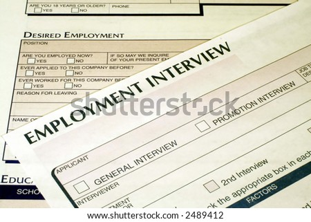 Employment Interview Form - stock photo