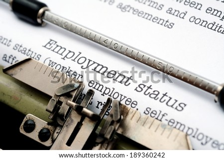 Employment letter - stock photo