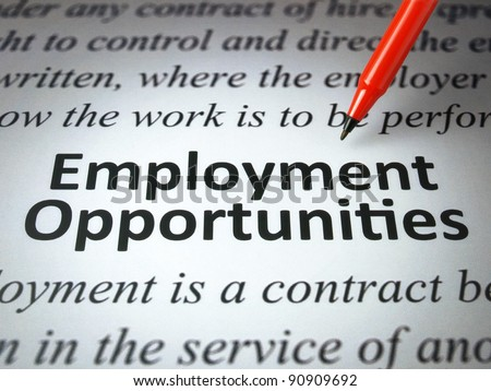 Employment opportunities - stock photo