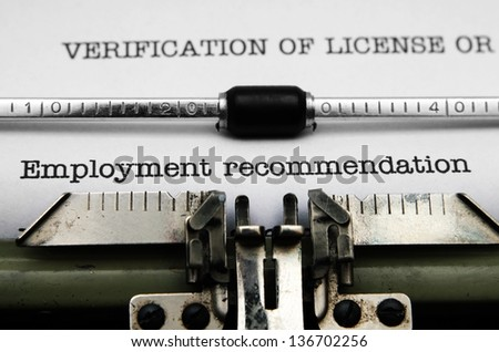 Employment recommendation - stock photo