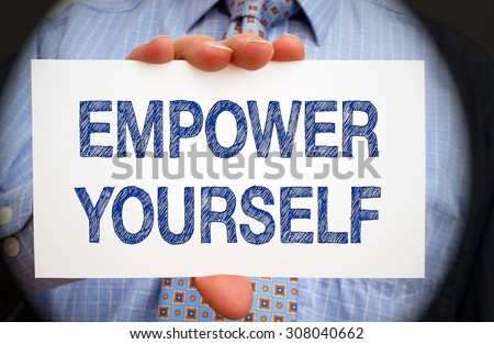 Empower yourself - Motivation and Coaching - stock photo