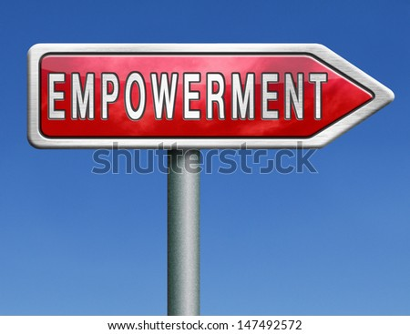 empowerment,raising consciousness for equal rights and opportunities increasing spiritual, political, social, educational, gender, or economic strength of individuals and communities raise awareness  - stock photo
